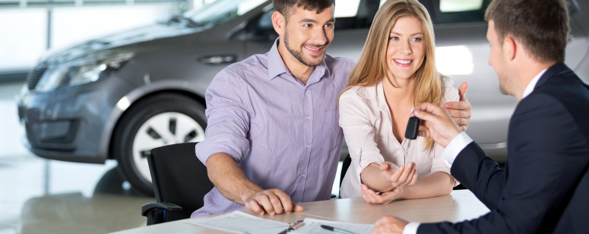 People buying a new car on finance